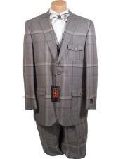 Mens 2 Buttons Vested