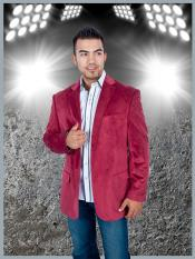 TH5C Stylish 2 Button Style Sport Jacket Burgundy ~