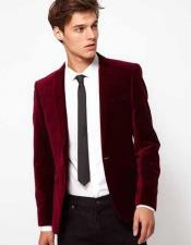 The Burgundy Velvet Suit