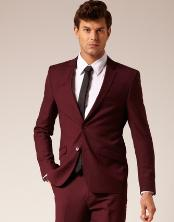 VT6740 2 Button Style Burgundy Suit ~ Maroon ~