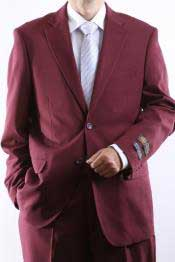 QDW40 Two Button 2 Button Style Jacket Burgundy ~