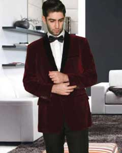 SS-74 2 Button Style Modern Fit Shawl Lapel Burgundy