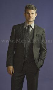 WED231 2 Button Style 3 Piece Dark Grey Masculine