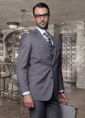 GMN43 2 Button Style Dark Grey Masculine color Suit