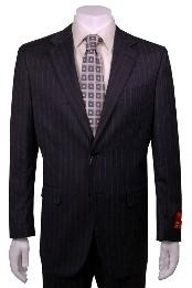 JH222 Suit Dark Grey Masculine color Stripe ~ Pinstripe