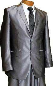 MU3819 2 Button Style Dark Grey Masculine color Grey