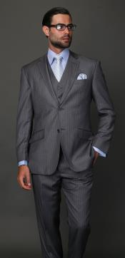 Classic3PC2ButtonStyleDarkGreyMasculinecolor