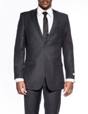 CH2090 Mens classic charcoal extra slim fit wedding prom