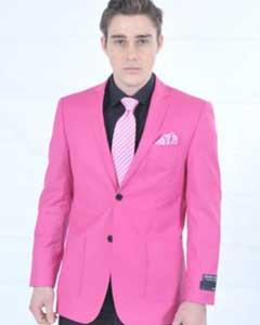 FSH78 Fitted Premium Blazer Online Sale Fuschia