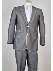 Product#SM982WhiteTrimNotchLapel2ButtonStyleGray