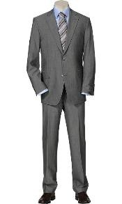 Solid Light Gray Quality Suit
