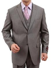 M158000 Solid patterned 2 Button Style Front Closure Suit