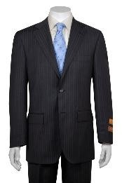 WA411 Gray and Shadow Stripe ~ Pinstripe 2 Button