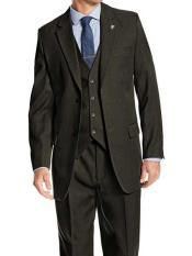 SM1211 Notch Lapel 2 Button Style Single Breasted Hunter