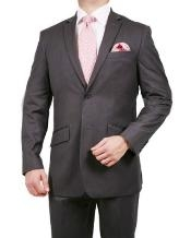 UH2301 2 Button Style Stripe ~ Pinstripe Suit Grey