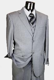 LightGrey3Piece2ButtonStylesinglePleated