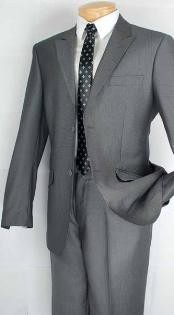 GR0212 Single Breasted 2 Button Style Peak Lapel Suit