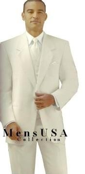 Y724GA Ivory/Off White/Cream 2 Button Style jacket Notch Lapel