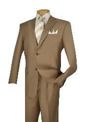 D62T_2TR-KHK89 Poly-rayon Executive Pure Solid Khaki
