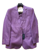 JSM-6341 Mens Two Buttons 100% Mens 2 Piece Linen