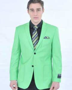 Fitted Premium lime mint Green Blazer