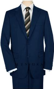 MNZ21 UMO High-Quality 2 Button Style Navy Blue 1920s