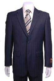 ER823 Navy Blue Shade Shadow Stripe ~ Pinstripe 2