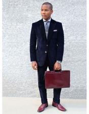 Mens Corduroy Suit Mens 2 Buttons
