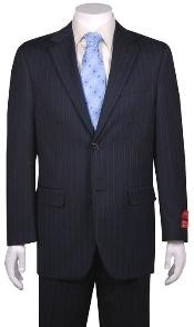 Suit Navy Blue Shade Stripe