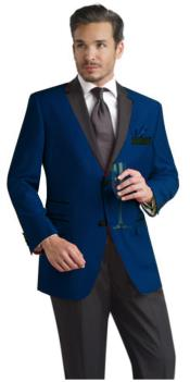 NVB199 Navy ~ Midnight Blue Two Button Notch Party