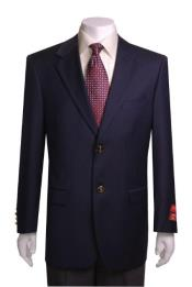 JSM-1025 Mens 2 Buttons Navy Quality Portly Blazer /