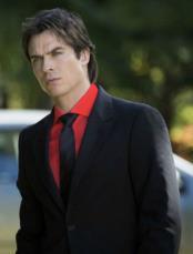mens Black Suit Red Shirt