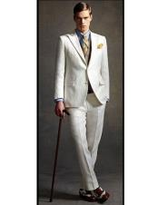 CH2275 Mens high fashion Off  White Two Buttons
