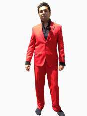 GP5G 2 Button Style Modern Cut Suit - Hot