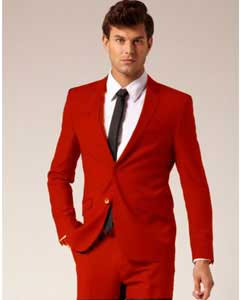 RDE021 2 Button Style Suit Pants red color shade