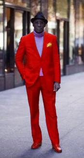 red color shade721 Discounted Jacket and Pleated Slacks Pants