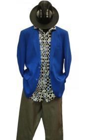 JSM-4870 Mens 2 Buttons Mens 2 Piece Linen Causal