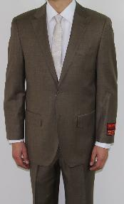JF4520 Two Button Taupe Wool Fabric Suit