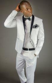 2 Button Style White Shawl