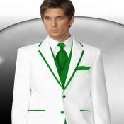 PN84 2 Button Style White Tuxedo With lime mint