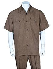 Mens Casual Short Sleeve Two