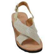 JSM-2160 Mens Exotic Skin Sandals in ostrich Alligator or