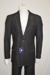 AC-691 Two buttons Jean Sport coat Jacket Denim Blazer