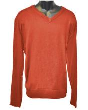 Mens V Neck Long