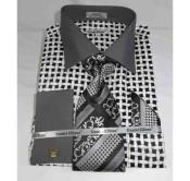 JSM-518 Mens Cotton Black White Bold Large Basket Weave