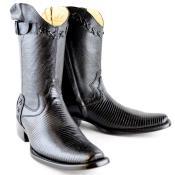PN96 Wh-Dimond Western Cowboy Boot Bota Europea Piel Lizard