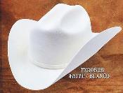 PNI15 Cowboy Western Hat 4X Felt Hats White