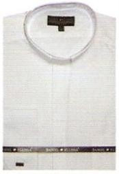 TY611 65% Poly Banded Collar dress shirts no collar