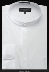 UB450 Basic Banded Collar dress shirts no collar mandarin