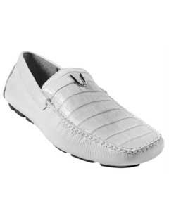 KA5721 White Genuine Cai Belly Driver Vestigium Driving Shoes